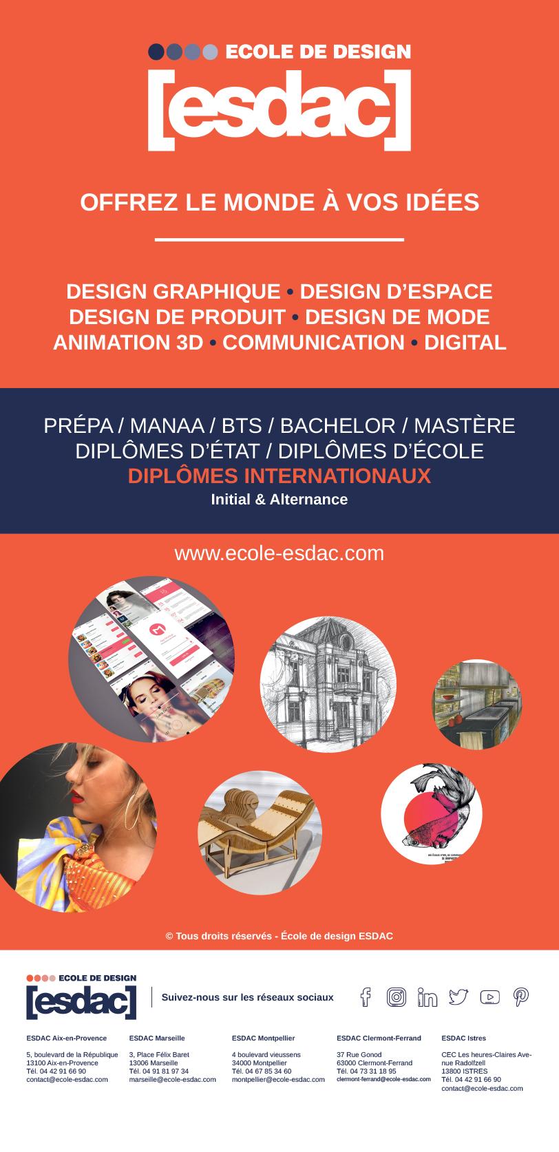 Kakemono pour les salons de l'école de design ESDAC