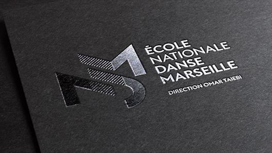 Réalisation identité visuelle École National de Danse de Marseille Florian Pioli