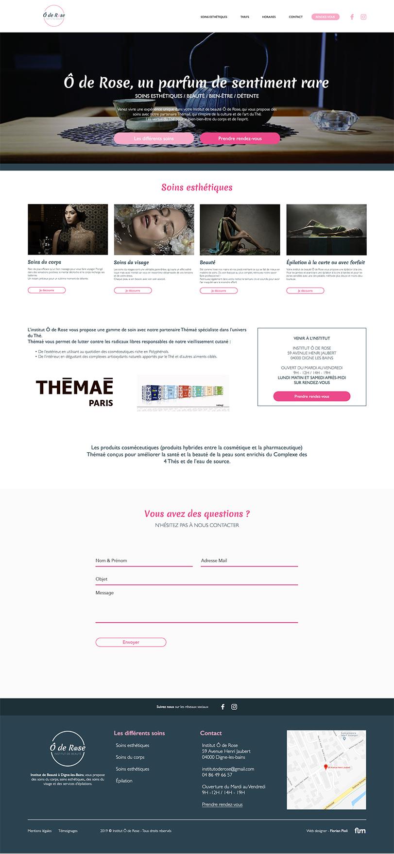 Création de site internet sur digne les bains florian pioli graphiste