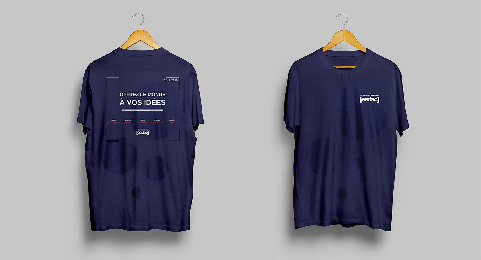 T-shirt graphisme pour l'école de design ESDAC