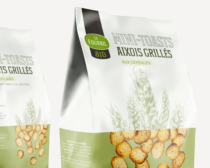 Zoom du packaging graphique des biscottes roger