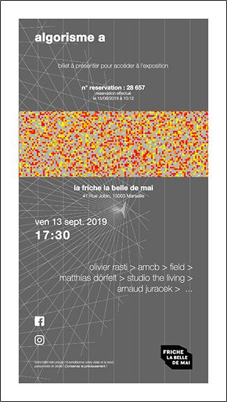 billet de reservation à l'exposition de la friche la belle de mai Marseille