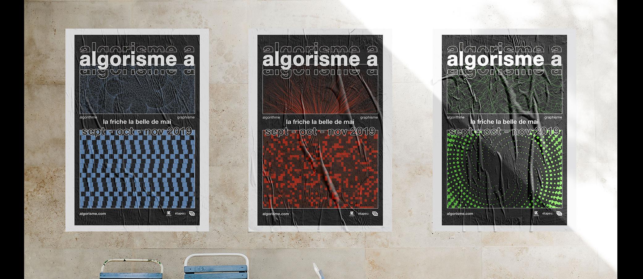 Communication visuelle : affiches de l'exposition graphique