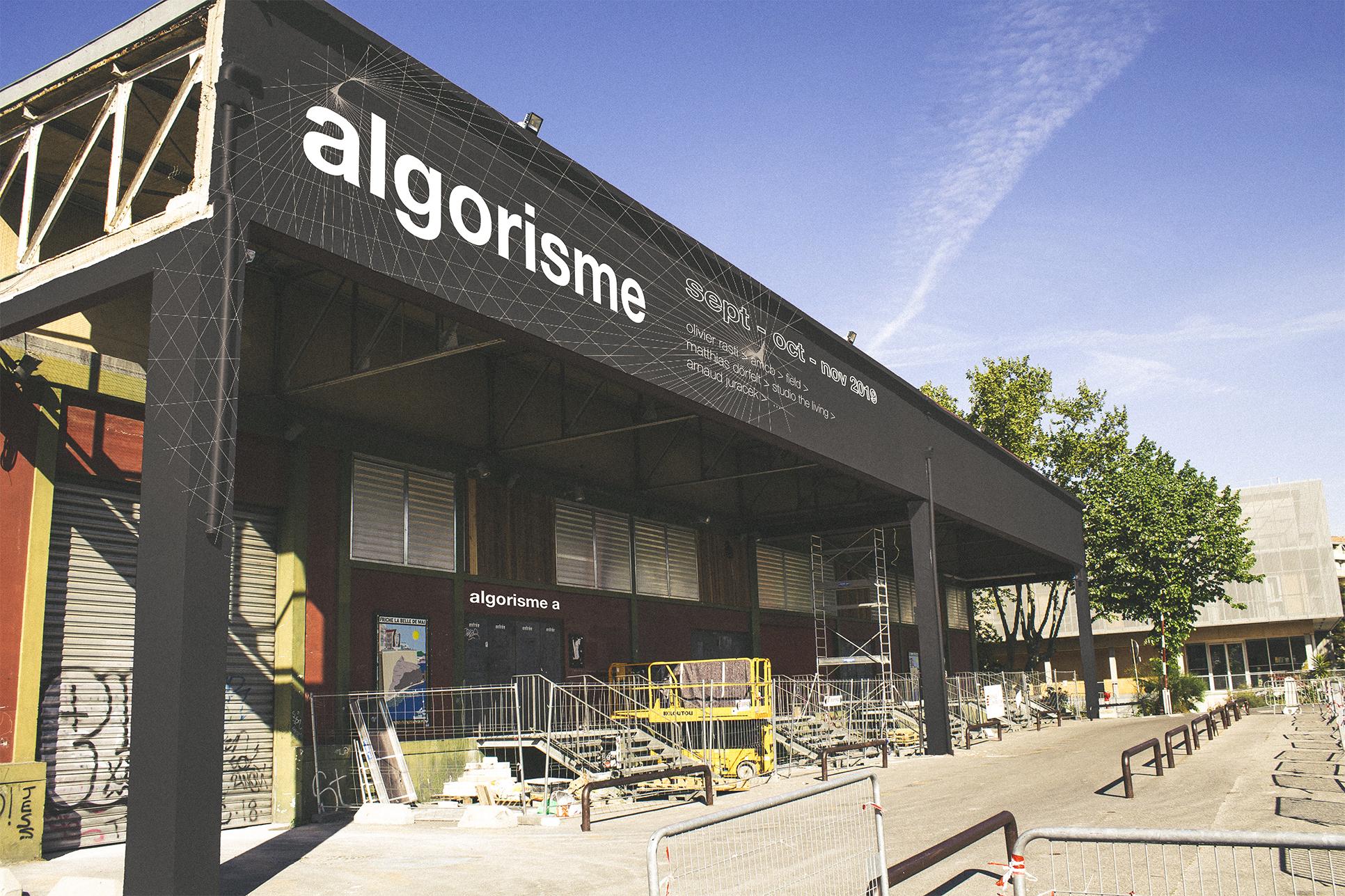 Signalétique de l'algorisme a : lieu d'exposition physique à Marseille