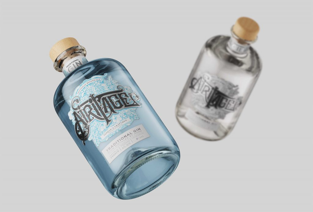 Gin traditionnel Airitage design par Maurin Armand